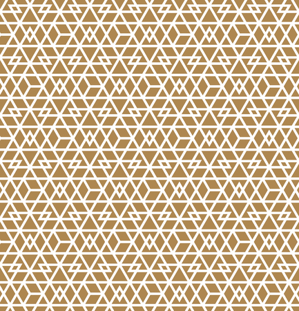Abstract Geometric Seamless pattern .White lines on brown background.Silhouette lines with a large thickness