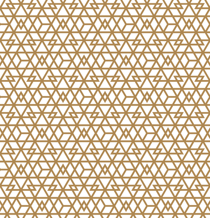 Abstract Geometric Seamless pattern .Brown lines on white background.Silhouette lines with a large thickness