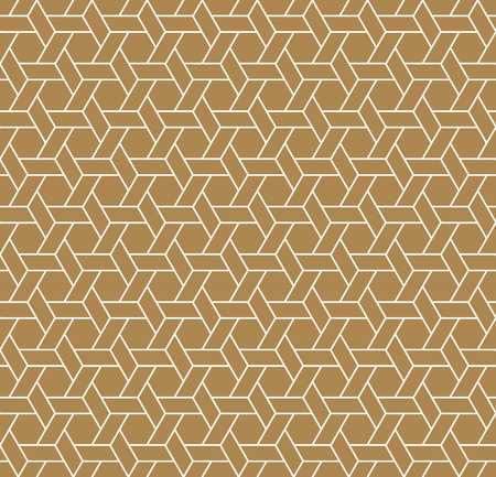Beautiful Seamless Japanese Geometric Pattern Kumiko For Shoji Screen, Great Design For Any Purposes. Japanese Traditional Wall, Shoji.Brown Color.Average thickness lines.