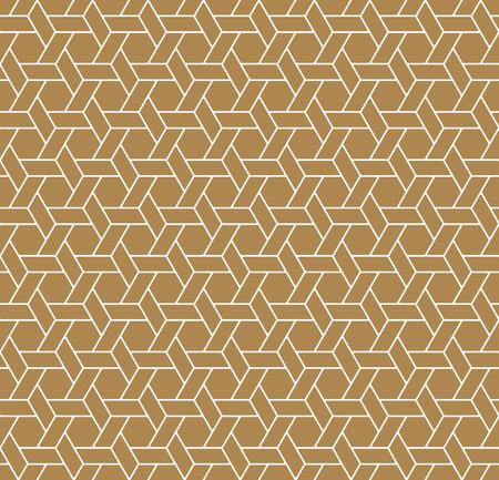 Seamless Japanese Geometric Pattern Kumiko For Shoji Screen, Great Design For Any Purposes. Japanese Traditional Wall, Shoji.Brown Color.Average thickness lines.ROUNDED corners.  イラスト・ベクター素材