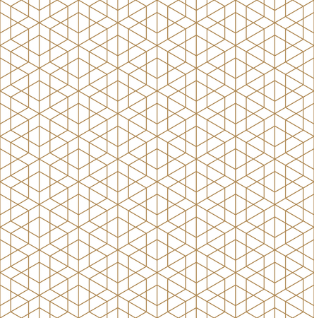Beautiful Seamless pattern japanese shoji kumiko, great design for any purposes. Japanese pattern background vector. Japanese traditional wall, shoji.Fine lines.Golden color.