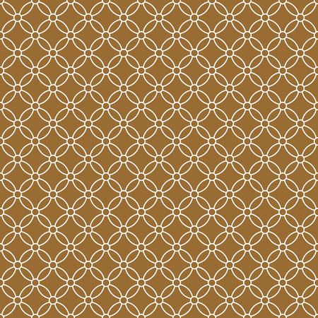 Seamless traditional geometric Japanese ornament.Golden color background and white layer lines.Average thickness.
