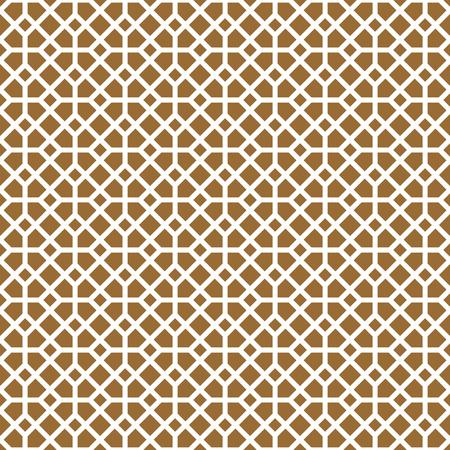 Ornamento geométrico sin costuras Fondo de color marrón Líneas gruesas