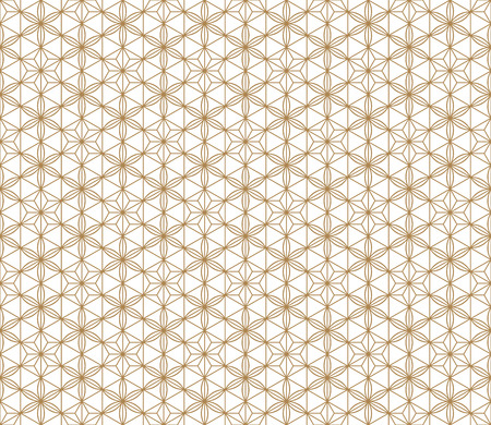 Seamless pattern japanese shoji kumiko.For template,fabric,textile,wrapping paper,laser cutting and engraving. Japanese pattern background vector.Compound ornament.Average and thick lines.Hexagon grid