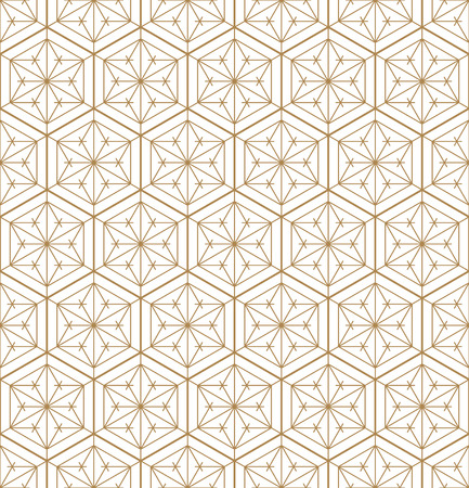 Seamless pattern japanese shoji kumiko.For template,fabric,textile,wrapping paper,laser cutting and engraving. Japanese pattern background vector.Fine and average lines.Hexagon grid