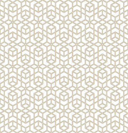 Seamless geometric ornament based on traditional arabic art. Muslim mosaic.Brown color lines.Great design for fabric,textile,cover,wrapping paper,background.Average thickness line.