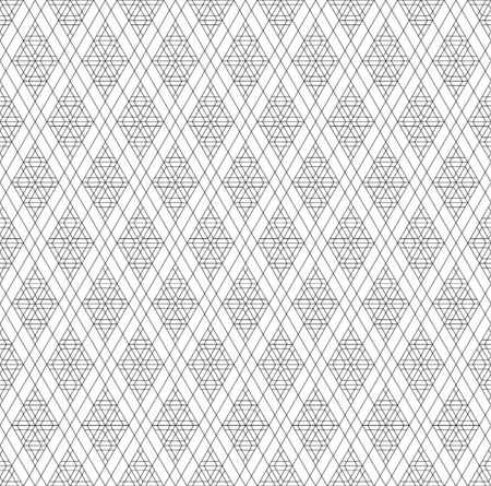 Japanese seamless geometric pattern .Black and white silhouette lines.For design template,textile,fabric,wrapping paper,laser cutting and engraving.Fine lines.