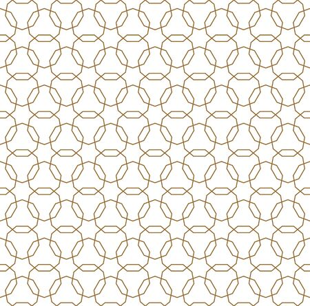 Seamless geometric ornament based on traditional arabic art. Muslim mosaic.Brown color lines.Great design for fabric,textile,cover,wrapping paper,background.Average thickness lines.