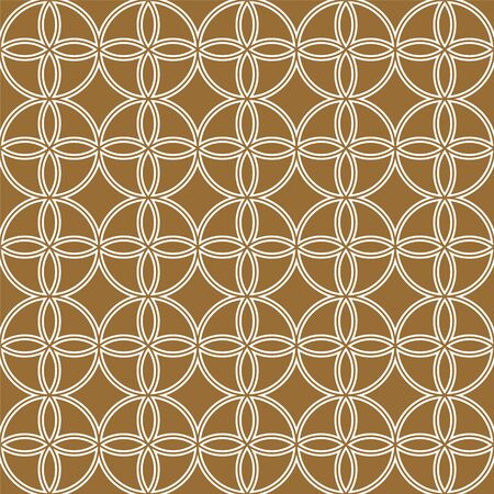 Seamless geometric pattern doubled lines on a brown background.