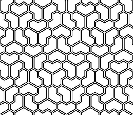 Seamless geometric pattern.Average doubled thickness lines.Black color.