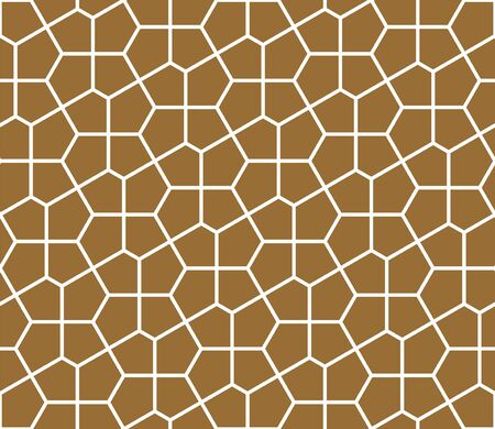 Seamless geometric ornament based on traditional arabic art. Muslim mosaic.Brown color background.Average thickness. Ilustrace