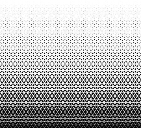 Seamless geometric triangles pattern vector background.Middle fade out.