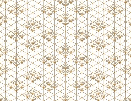 Beautiful Seamless japanese pattern kumiko for shoji screen, great design for any purposes. Japanese pattern background vector. Japanese traditional wall, shoji.Average thickness lines.
