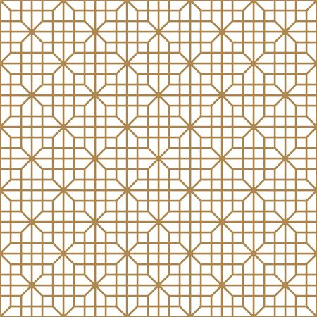 Seamless geometric pattern, great design for print, lasercutting, engraving,wrapping.Pattern background vector.Gold and white.Thick lines