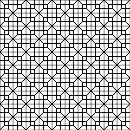 Seamless geometric pattern, great design for print, lasercutting, engraving,wrapping.Pattern background vector.Black and white.Thick lines 向量圖像