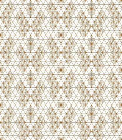 Beautiful Seamless japanese pattern kumiko for shoji screen, great design for any purposes. Arrange in a checkerboard pattern.Japanese traditional wall, shoji.Average thickness lines.