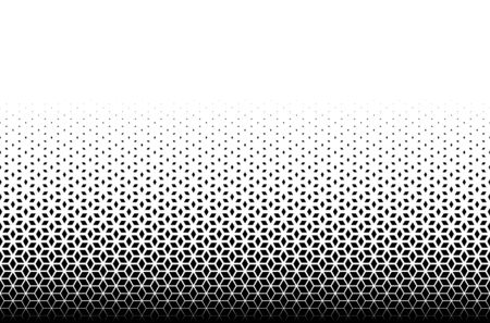 Geometric pattern of black diamonds on a white background.Seamless in one direction.Option with a AVERAGE fade out.