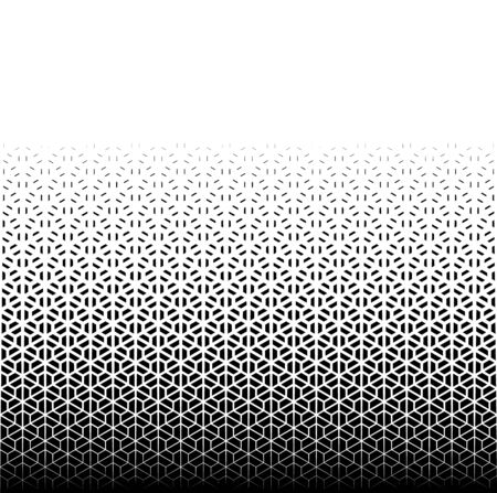 Geometric pattern of black figures on a white background.Seamless in one direction.Option with a AVERAGE fade out.Japanese classical pattern in style kumiko.