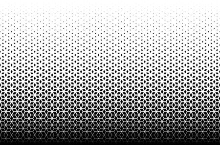 Geometric pattern of black diamonds on a white background.Seamless in one direction.Option with a MIDDLE fade out.