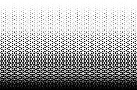 Patrón geométrico de diamantes negros sobre fondo blanco. Sin costuras en una dirección. Opción con un desvanecimiento MEDIO.