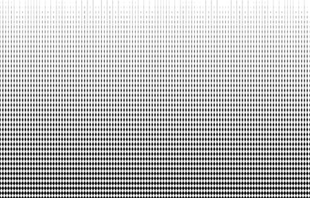 Geometric pattern of black tapering diamonds on a white background. Ilustração