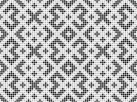 Seamless traditional Russian and slavic ornamentin in big and small black circles.