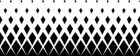 Geometric pattern of black diamonds on a white background.