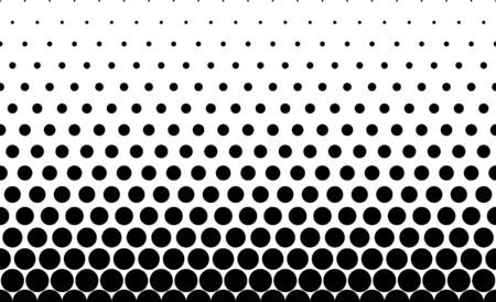 Seamless halftone background.Filled with black circles .Short fade out. 15 figures in height. 向量圖像