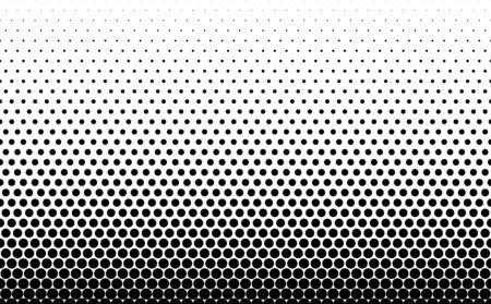 Seamless halftone background.Filled with black circles .Short fade out. 31 figures in height.