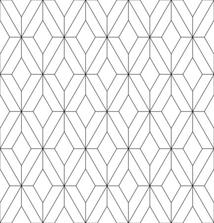 Beautiful pattern japanese shoji kumiko, great design for any purposes. Japanese pattern background vector. Japanese traditional wall, shoji.Average thickness.