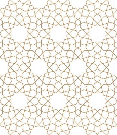 Seamless pattern of geometric on white