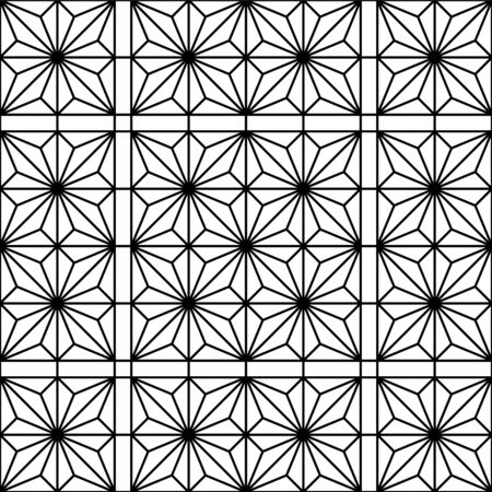 Seamless geometric pattern.Black and white color.Great design for print, lasercutting, engraving.Average thickness lines.