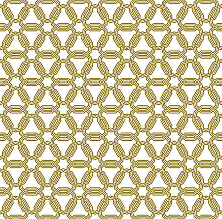 Seamless geometric ornament based on traditional arabic art.Brown color lines.Great design for fabric, textile, cover, wrapping paper, background. Stock fotó - 155401698