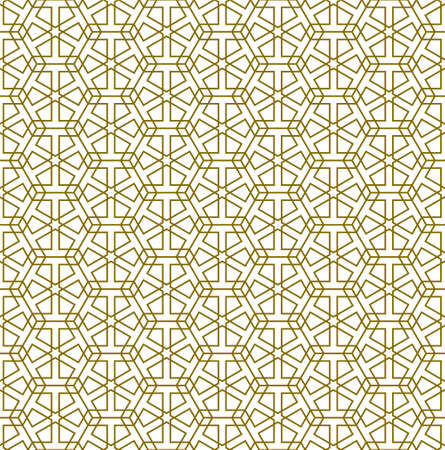 Seamless geometric ornament based on traditional arabic art.Brown color lines.Great design for fabric, textile, cover, wrapping paper, background.Average lines. Stock fotó - 155401700