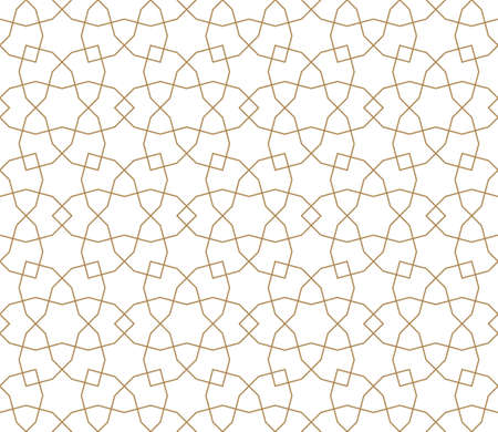 Seamless geometric ornament based on traditional arabic art.Brown color lines.Great design for fabric, textile, cover, wrapping paper, background.Fine lines. Stock fotó - 155401704