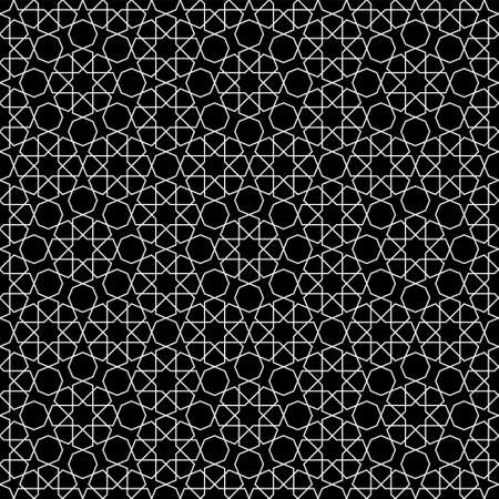 Seamless geometric ornament based on traditional arabic art. Average thickness lines.