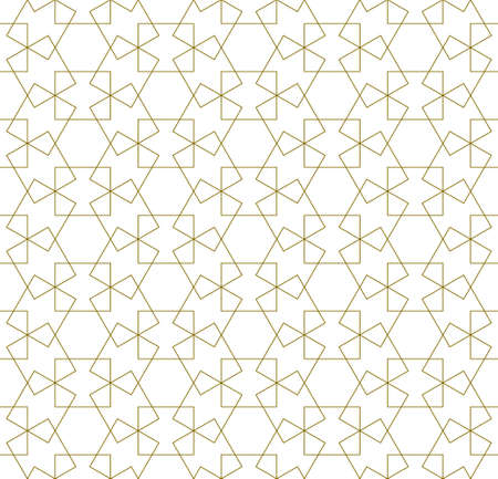 Seamless geometric ornament based on traditional arabic art.Brown color lines.Great design for fabric, textile, cover, wrapping paper, background.Thick lines. Stock fotó - 155401744