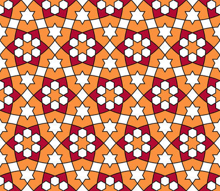 Seamless geometric ornament based on traditional arabic art..Great design for fabric, textile, cover, wrapping paper, background.Thin lines. Stock fotó - 155401751
