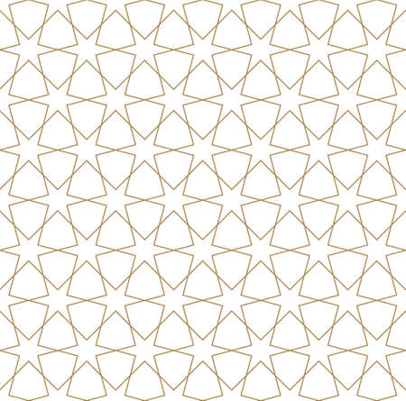 Seamless geometric ornament based on traditional arabic art.Brown color lines.Great design for fabric, textile, cover, wrapping paper, background.Thick lines. Stock fotó - 155401754