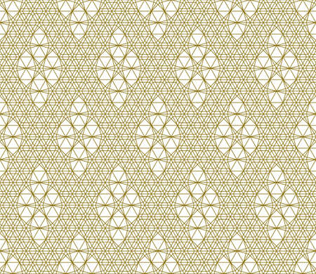 Seamless geometric ornament based on traditional arabic art.Brown color lines.Great design for fabric, textile, cover, wrapping paper, background.Thick lines. Stock fotó - 155401758