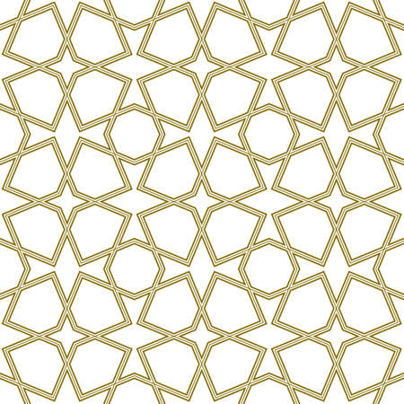 Seamless geometric ornament based on traditional arabic art.Brown color lines.Great design for fabric, textile, cover, wrapping paper, background.