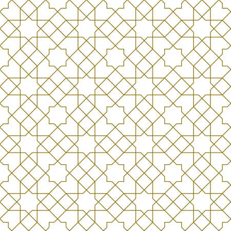 Seamless geometric ornament based on traditional islamic art.Brown color lines.Great design for fabric, textile, cover, wrapping paper, background.Thin lines. 矢量图像