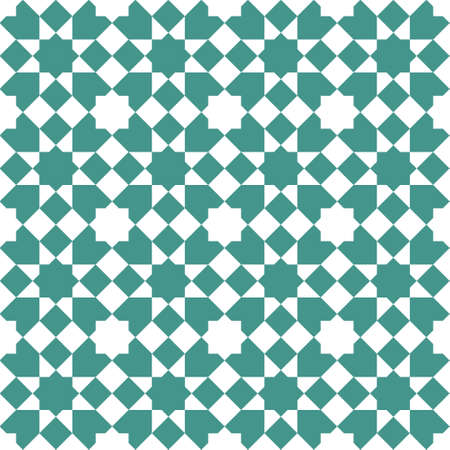 Seamless geometric ornament based on traditional islamic art. .Great design for fabric, textile, cover, wrapping paper, background.Turquoise blue color.