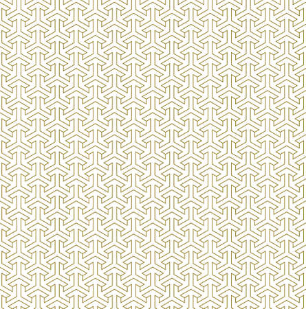 Seamless geometric ornament based on traditional islamic art.Brown color.Great design for fabric, textile, cover, wrapping paper, background. Average thickness lines.