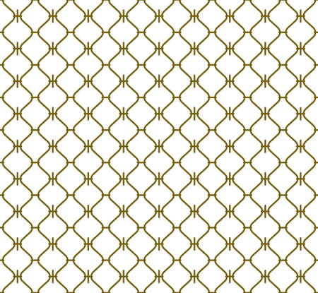 Seamless geometric pattern .Lines in brown color.Graphic modern pattern. Based on japanese pattern in style sashiko.