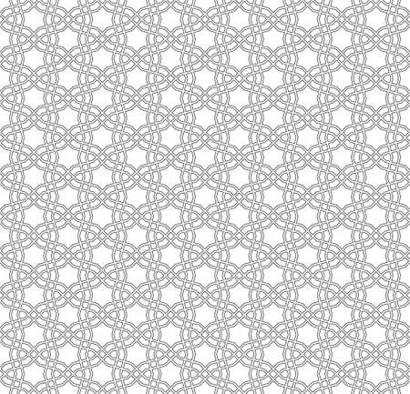 Seamless geometric ornament based on traditional islamic art.Brown color lines.Great design for fabric, textile, cover, wrapping paper, background. Contoured fine lines.