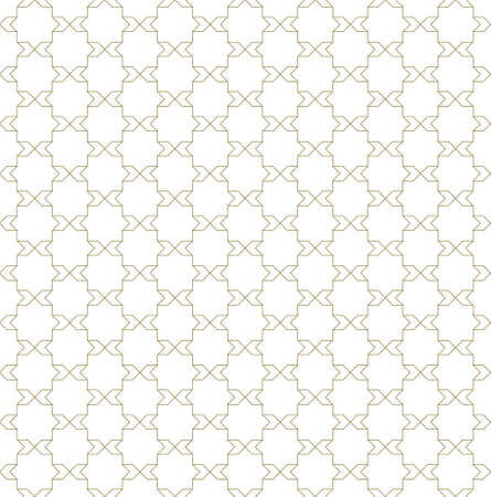 Seamless geometric pattern. Fine lines in brown color .Geometric background, graphic seamless pattern illustration.