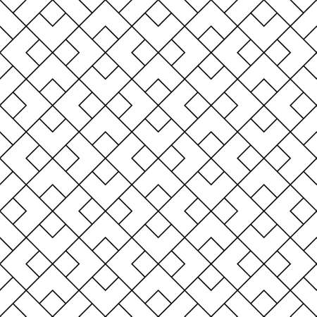 Seamless pattern in style Kumiko zaiku in black lines. Average thickness.