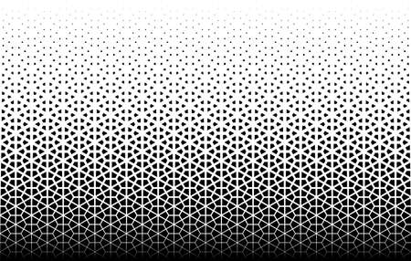 Disappearing pattern in japanese style kumiko.Black figurs on a white background.Seamless in one direction.Option with a MIDDLE fadeout. 87 elements in height. Illusztráció