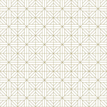 Japanese seamless Kumiko pattern in brown fine lines. Illusztráció